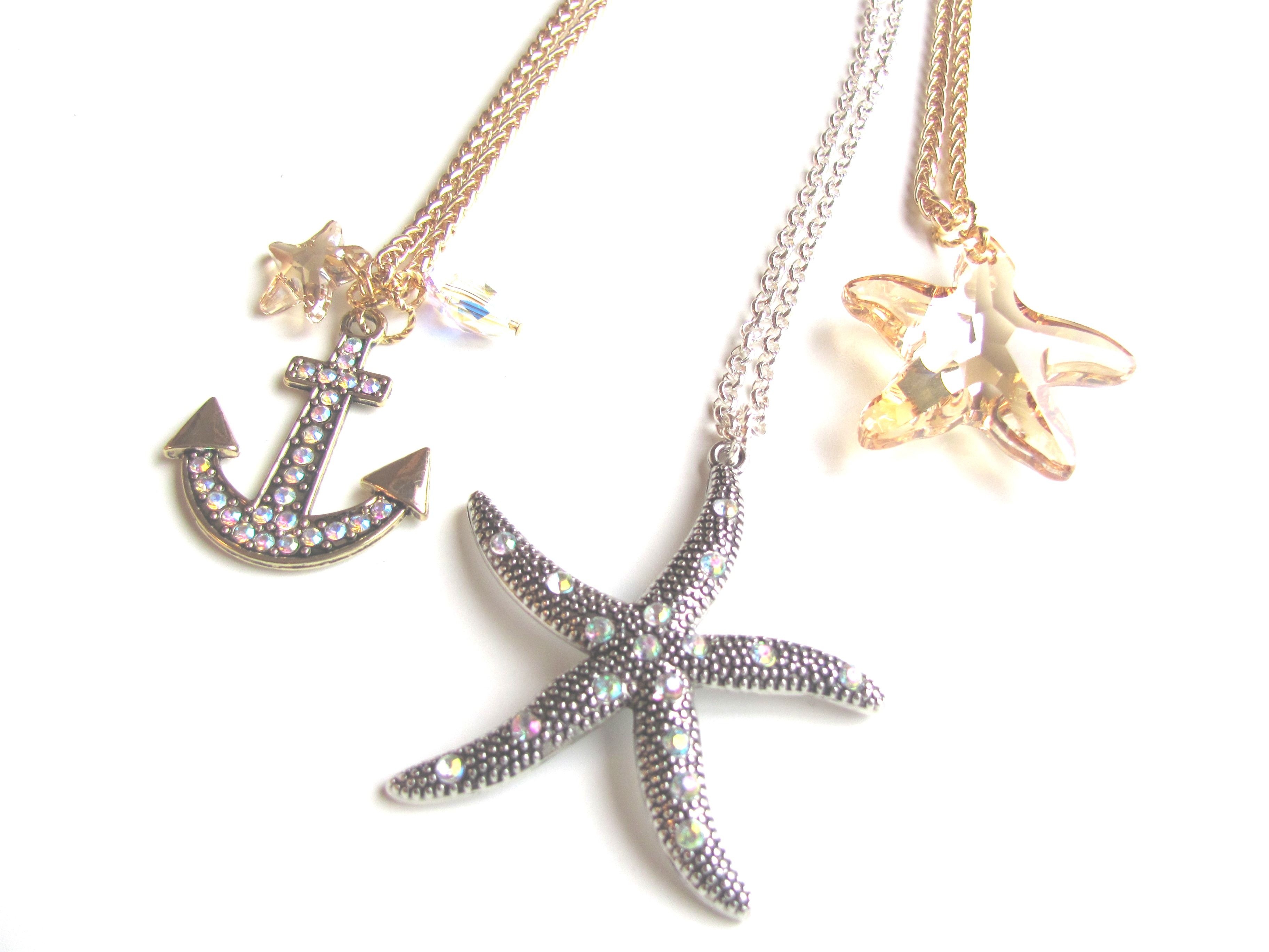 By the Sea Necklace from our Nautical collection www.beadzou.com