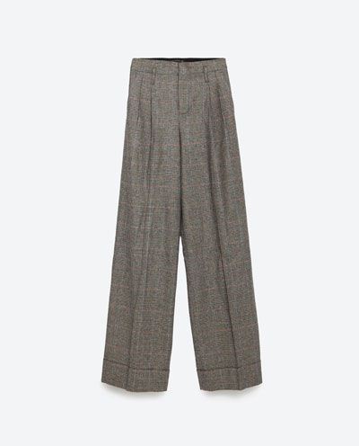 STRAIGHT-CUT TROUSERS MID-RISE-Wide-Trousers-WOMAN | ZARA Serbia