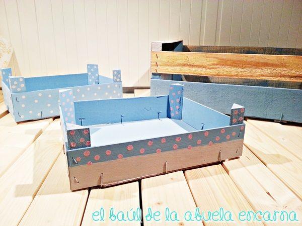 cajas de frutas con chalk paint