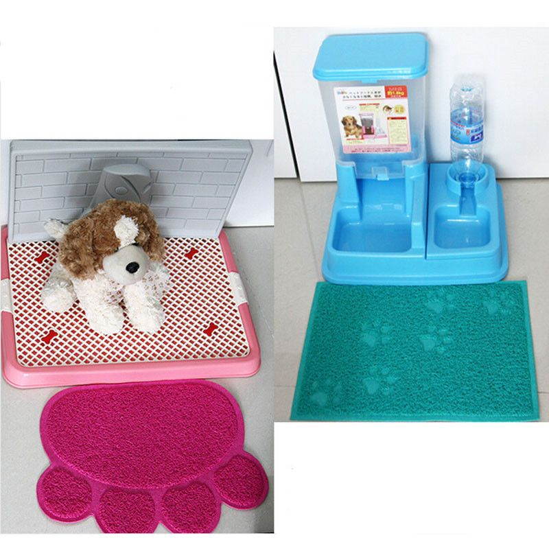 Pet Dog Puppy Cat Feeding Mat Pad Cute Paw Pvc Bed Dish Bowl Food Water Feed Placemat Wipe Clean Pet Supplies Yl67 Pet Dogs Puppies Cat Litter Tray Cat Feeding