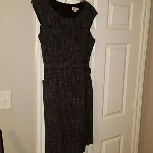 Black/gray dress Bundle 2 and save 20% Prices already cut -- Black/gray dress with belt and pockets Merona Dresses High Low