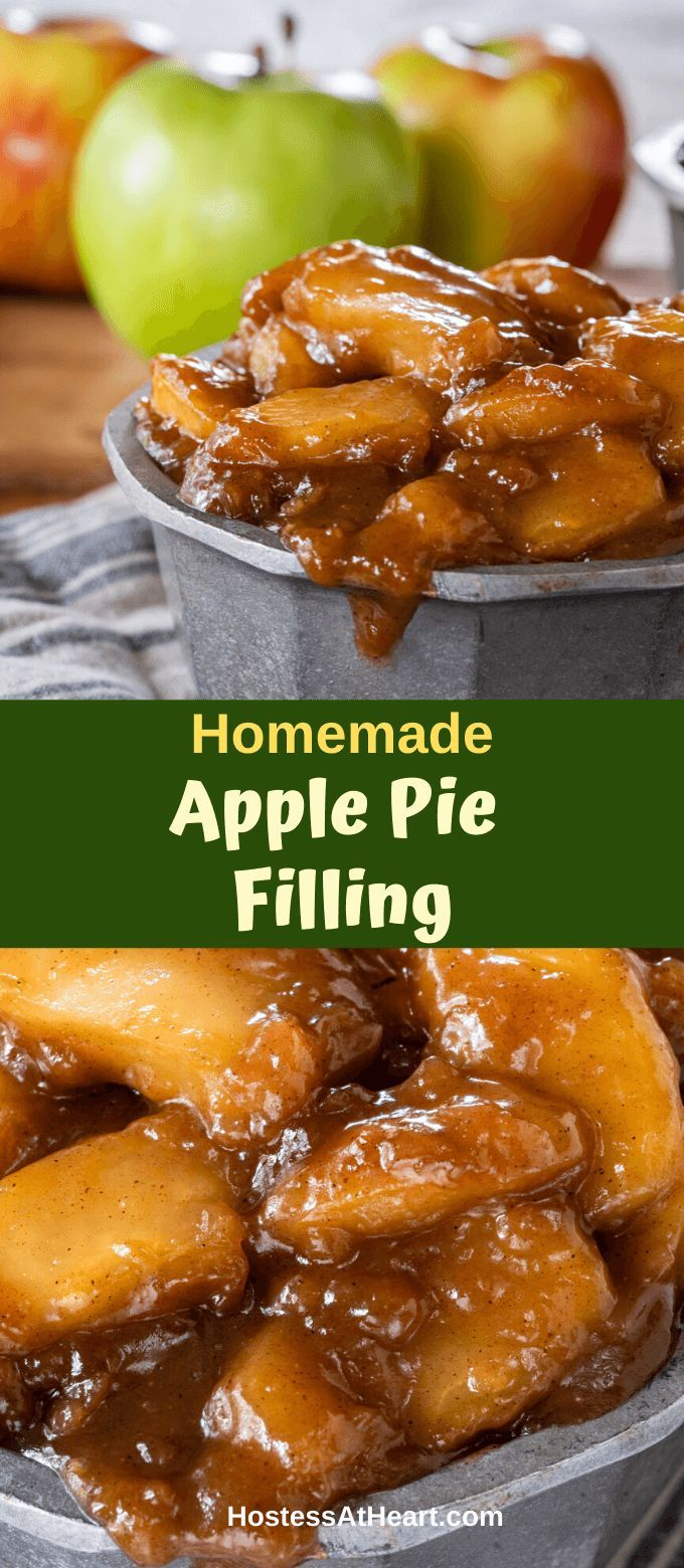 Homemade Apple Pie Filling combines fresh apples in a brown sugar sauce loaded with warm cinnamon. It's delicious as is, a topping, or in a recipe!