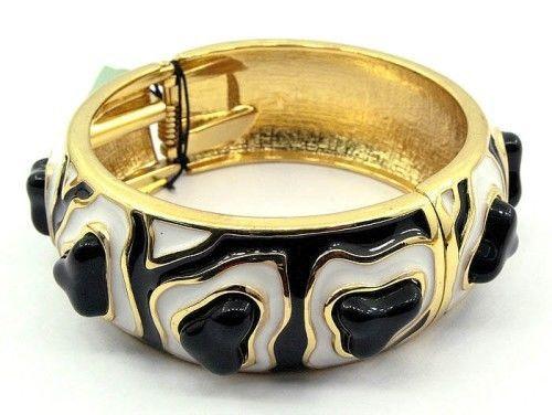3D-in-ottone-con-motivo-a-zebra-MODA-DONNA-BRACCIALETTO