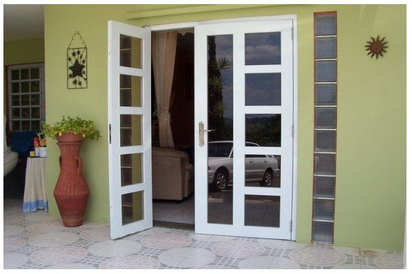 puertas de aluminio blanco para exterior dream home