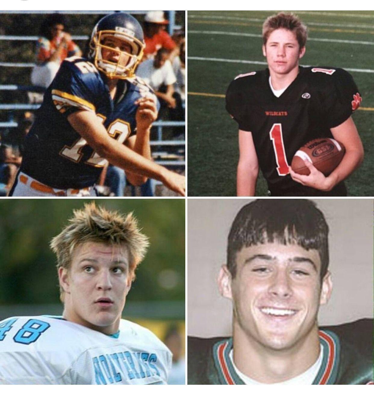 Throwback to HS years. Brady, Jillian, Gronk, & Danny
