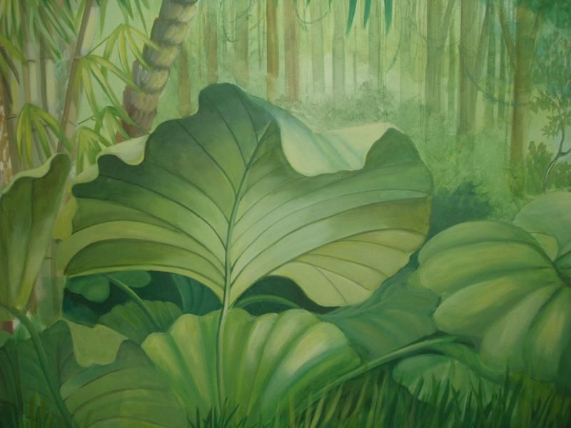 Jungle mural wetcanvas kids baby pinterest - Babyzimmer jungle ...