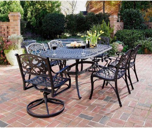 Home Styles Biscayne Black Cast Aluminum Patio Dining Set 400 x 300