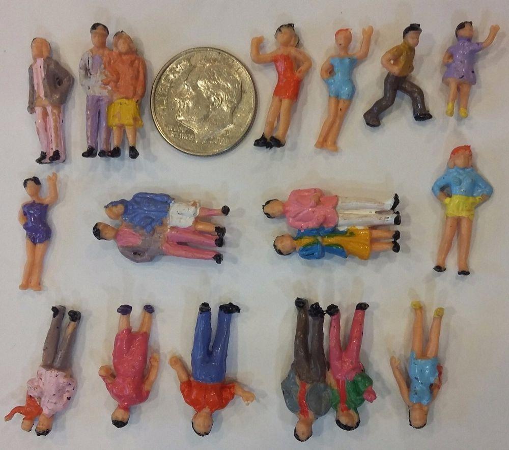 Set #2 Large Scale Miniature People for Art Craft or Barbie Diorama EUC LOT…