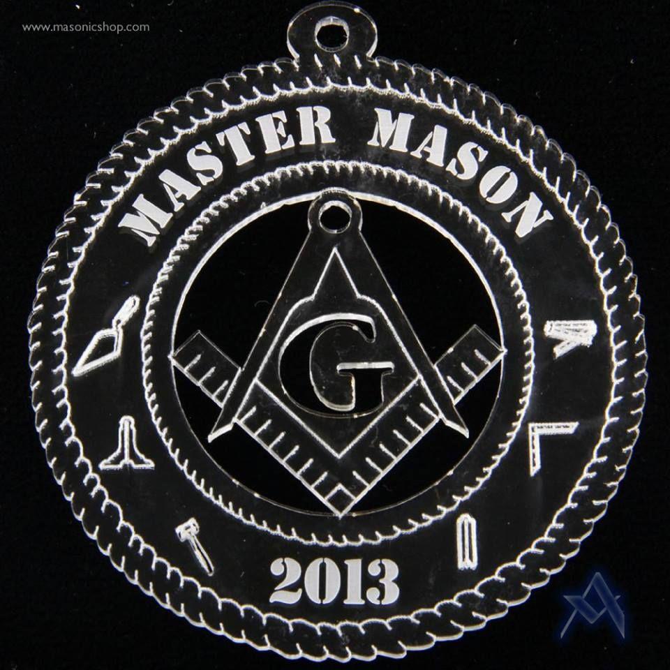 2013 Limited Edition Master Mason Christmas Tree Ornament Masonic