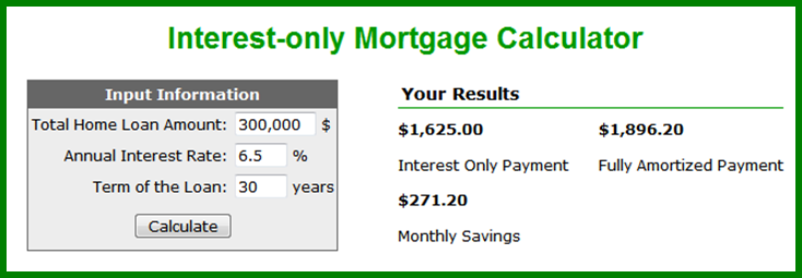 Register With Us To Use Our Interest Only Mortgage Calculator On
