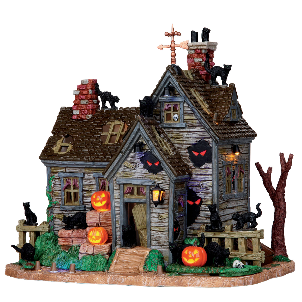 UPC 728162051097 - Lemax Spooky Town Collection Halloween Village Building Vicki'S Cattery With 4.5 | upcitemdb.com #halloweenvillage