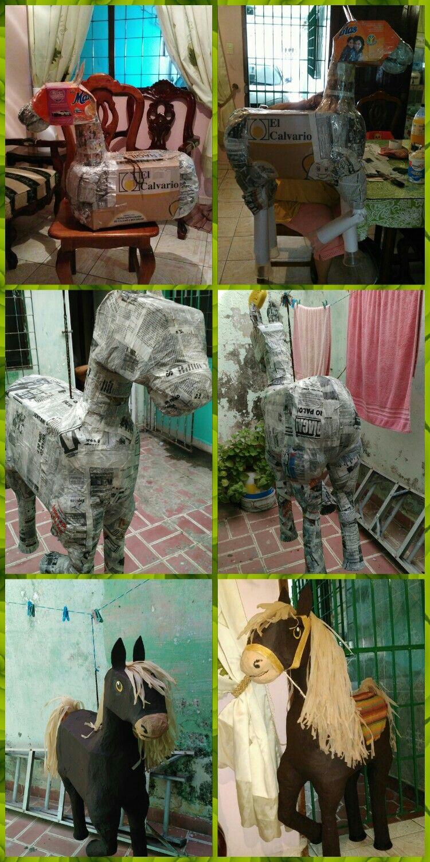 Piñata de caballo paso a paso,reciclando materiales | Party ...