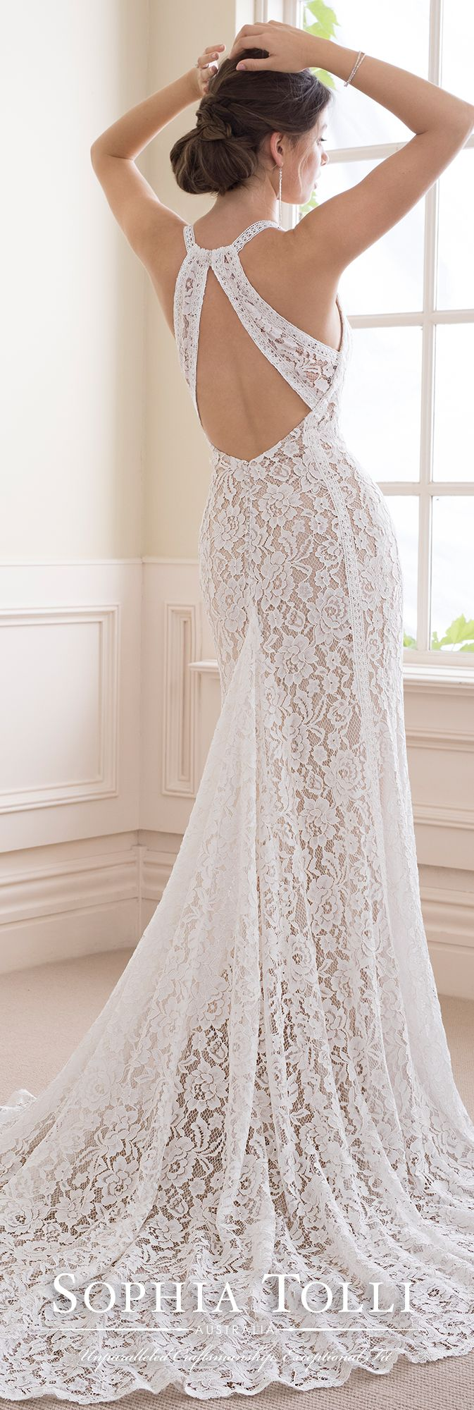 Boho chic allover lace sheath wedding gown sensory candy