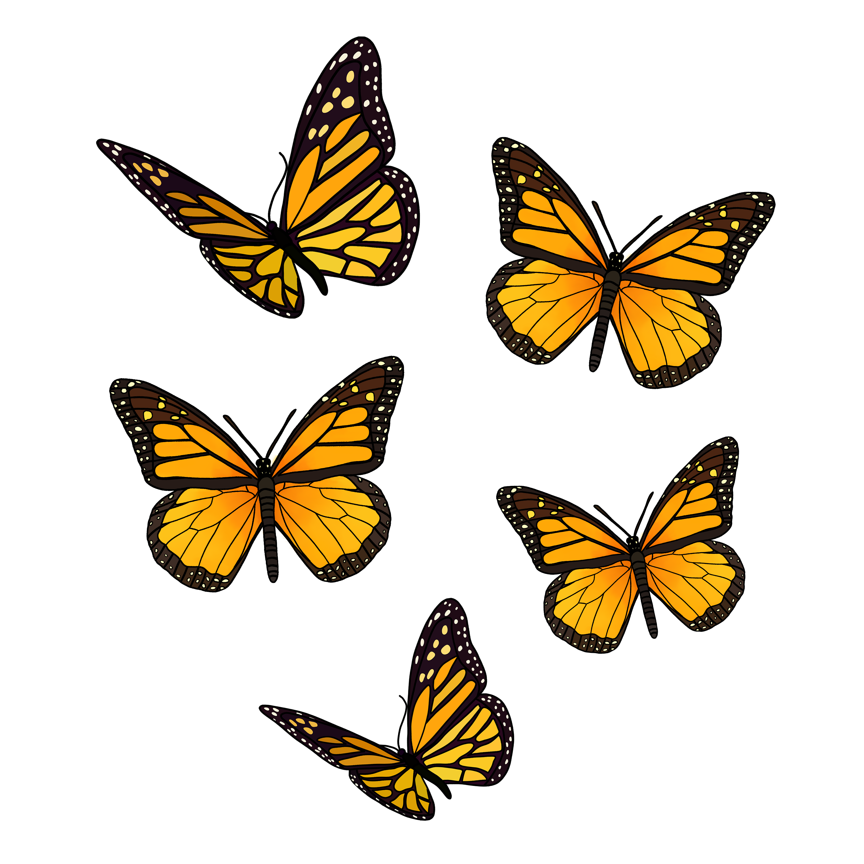 Yellow Butterfly Pack Sticker By Jadydesigns In 2021 Yellow Butterfly Butterfly Wallpaper Iphone Butterfly Background