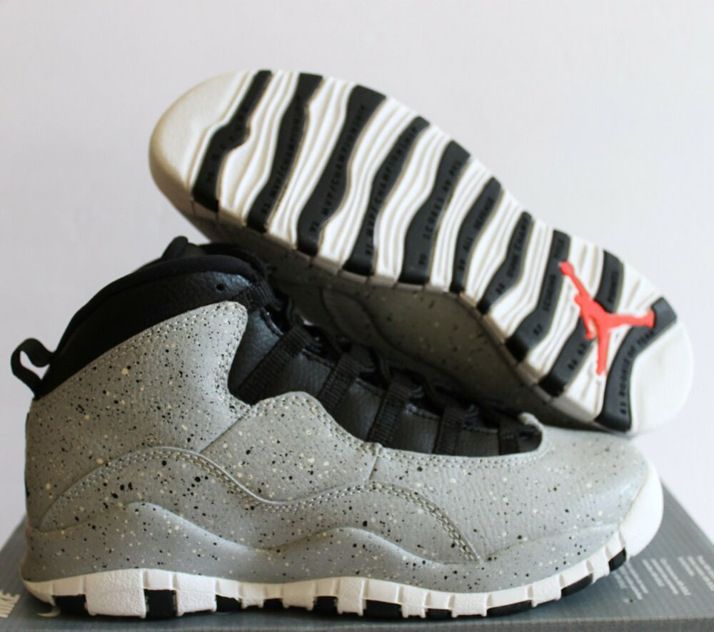 eBay Sponsored) Nike Jordan 10 Retro (GS) LIGHT SMOKE GREY