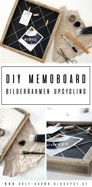 DIY Memoboard – Bilderrahmen Upcycling