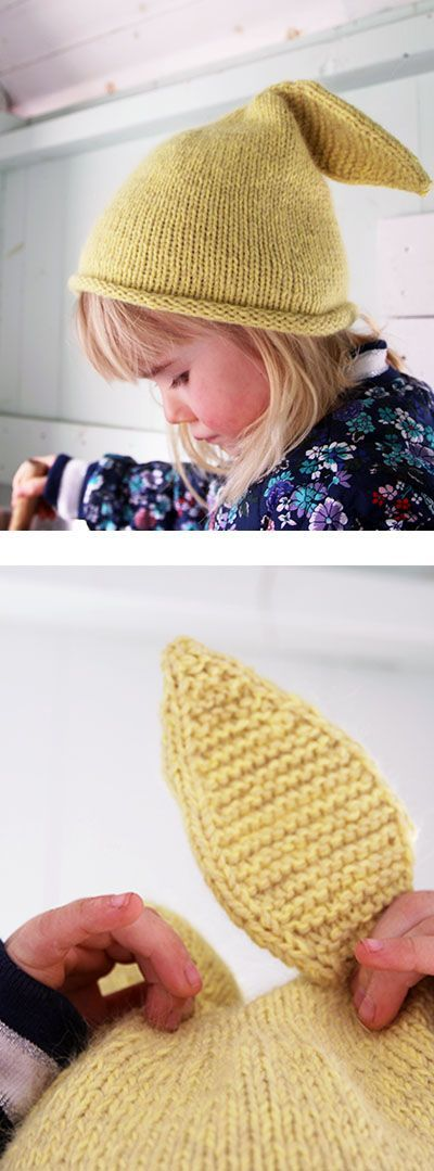 Bunny-hat - Pickles - free knit pattern | Knitting girls ...