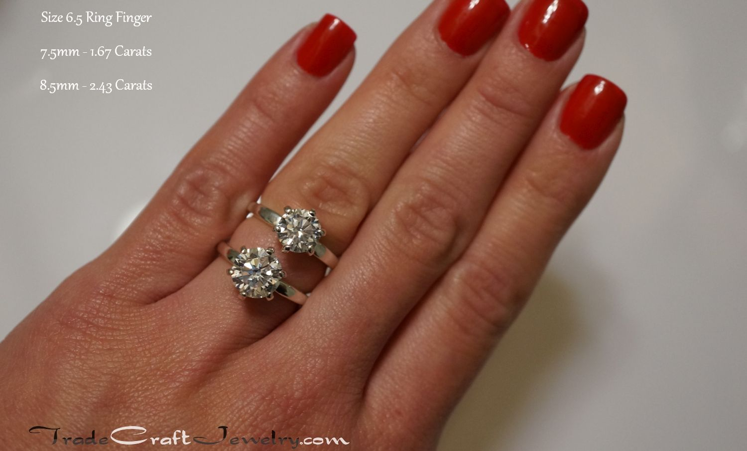 Find This Pin And More On Cz Engagement Ring Hand Shots & Stone Size Parisons