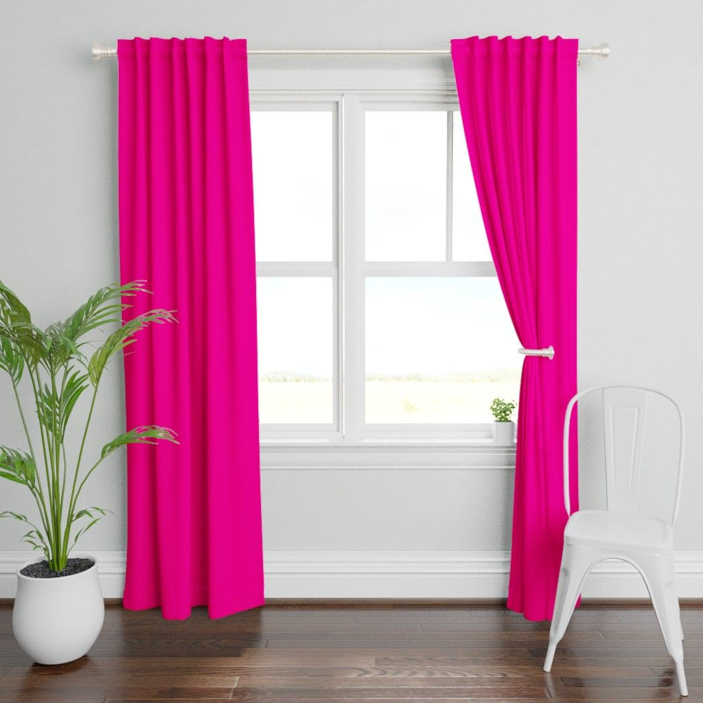 Neon Hot Pink Solid On Plymouth By Paper And Frill Roostery Home