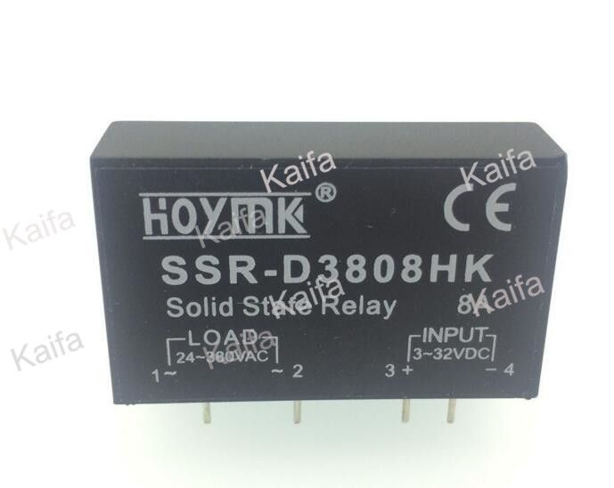 PCB Dedicato con Perni SSR-D3808HK 8A DC-AC Relè A Stato ... on