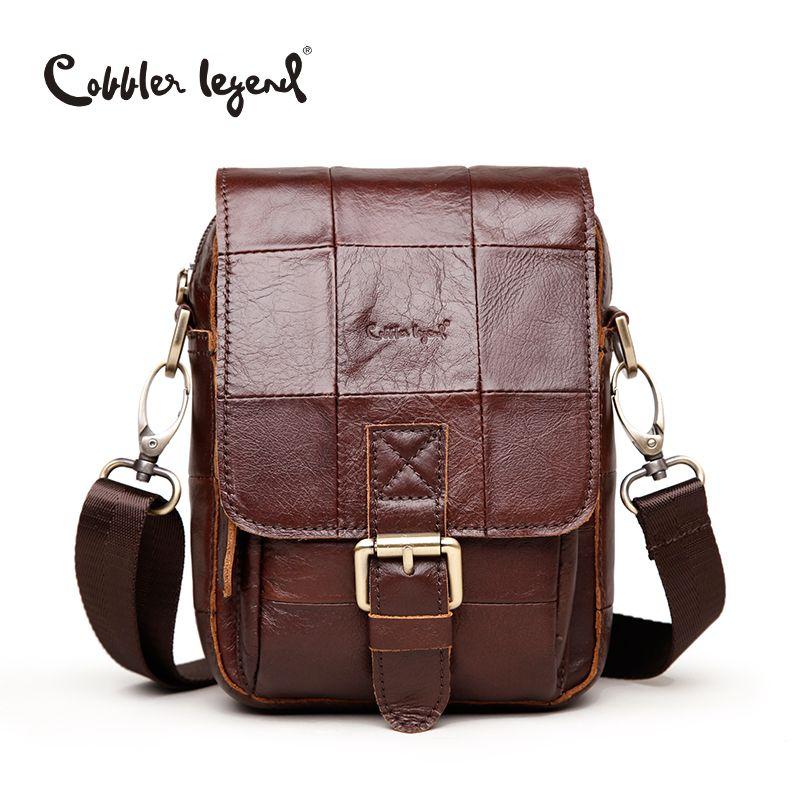 609d7d46d6b9 Cobbler Legend Fashion Brand 2016 New Men s Vintage Genuine Leather  Messenger Bag Men Male Cowhide Shoulder Crossbody Mini Bags   Affiliate