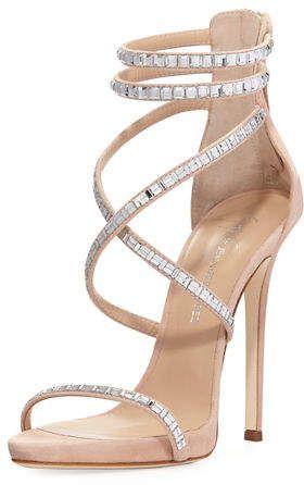 78de6341c8321 Giuseppe Zanotti Women's Shoes & Heels at Neiman Marcus. Giuseppe Zanotti  Coline Suede and Crystal Sandal