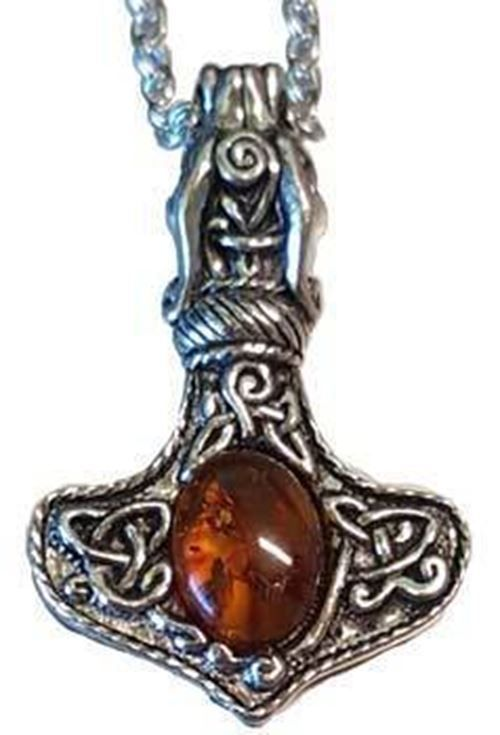 Thoru0027s Hammer With Amber A #classic, #ornate And Highly #intricate #pagan