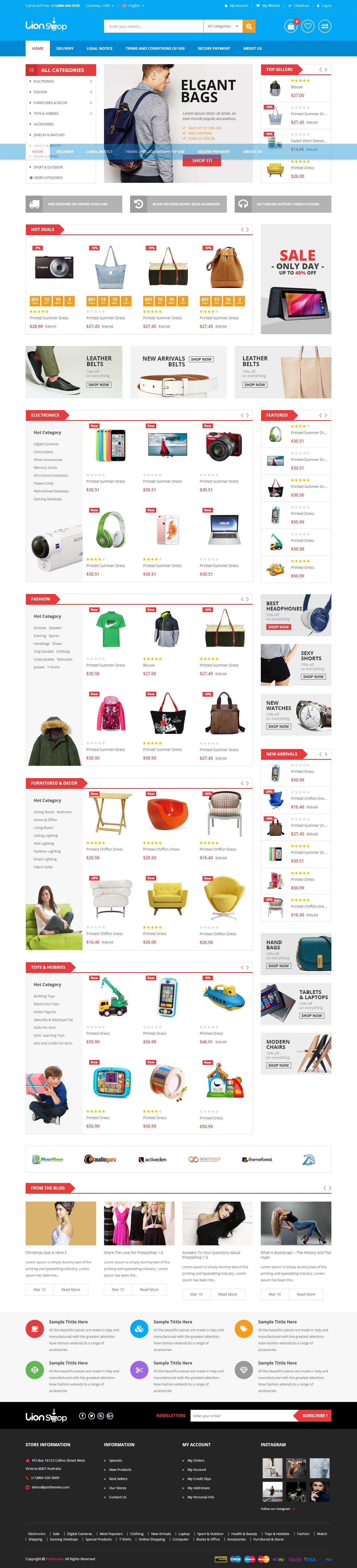 YesThemes] Free Prestashop theme for Electronics fashion