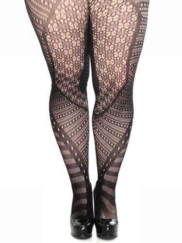 1e6c21793 Sexy Plus Size Floral Cutouts Design Fishnet Seamless Pantyhose Hosiery  Tights