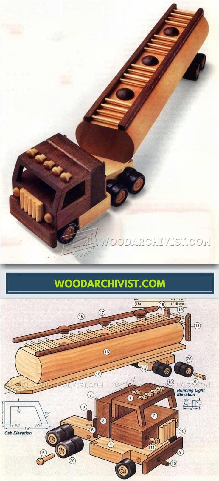 wooden toy tanker truck plans - wooden toy plans and