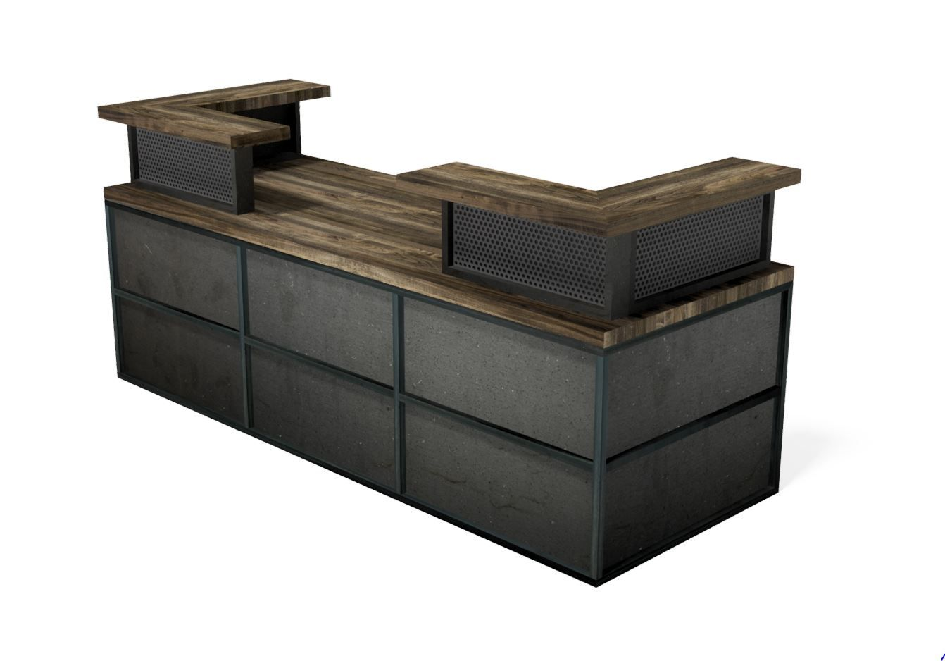 18 Iron Age Office   All Products   Reception desk, Industrial ...