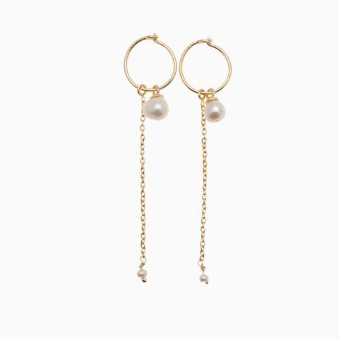 Ankelkæde med fine hvide gemstone | no. 795 | ByMickleit