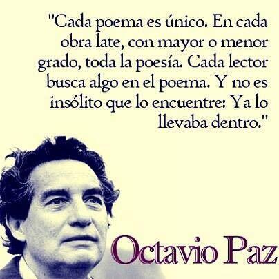 Frases sobre la poesia de octavio paz