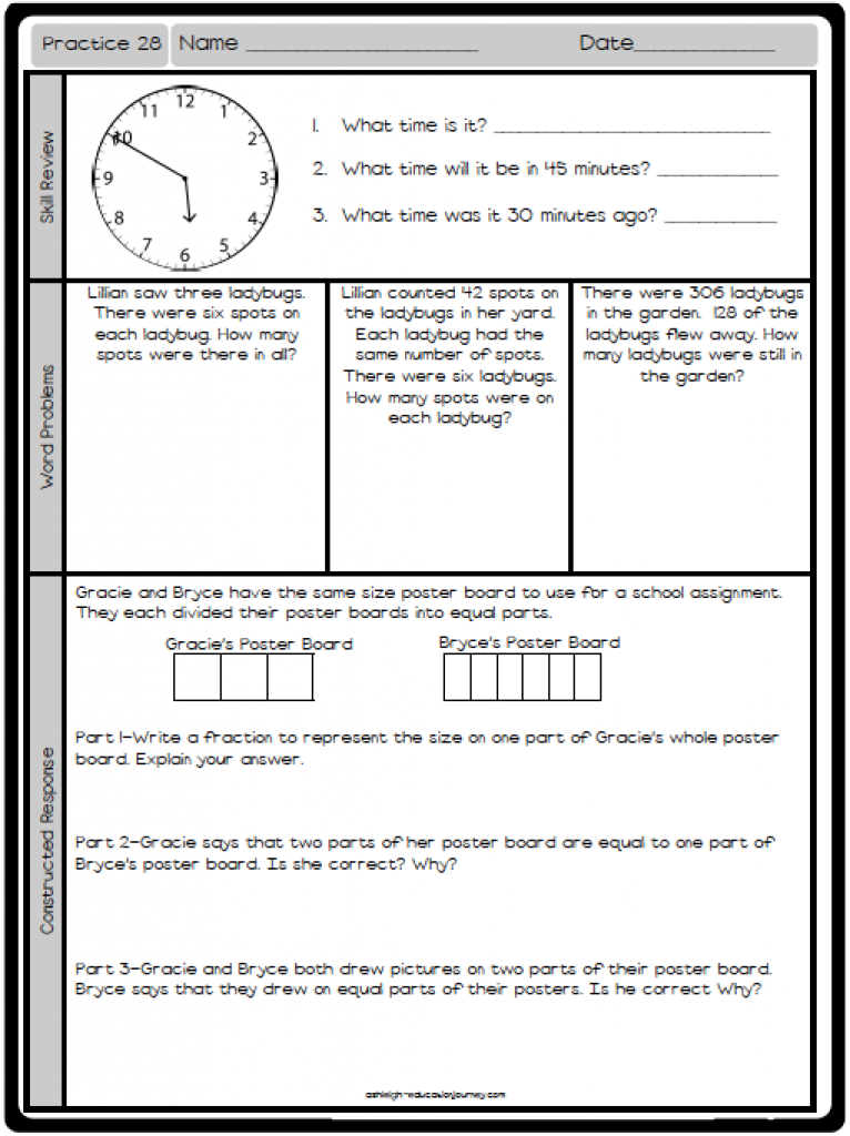 Free Math Practice Worksheet Reviews A Variety Of Skills And
