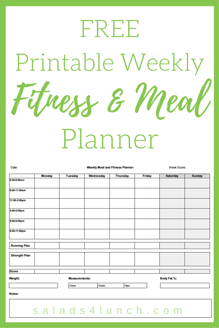 printable meal and fitness planner thinking outloud pinterest
