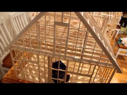 A 1 12 Scale Wood Framed House Constructed From Balsa An
