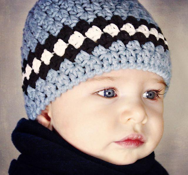 Ravelry  Classic Baby Boy Beanie pattern by Lisa Corinne Crochet ... f8d2f8a42db