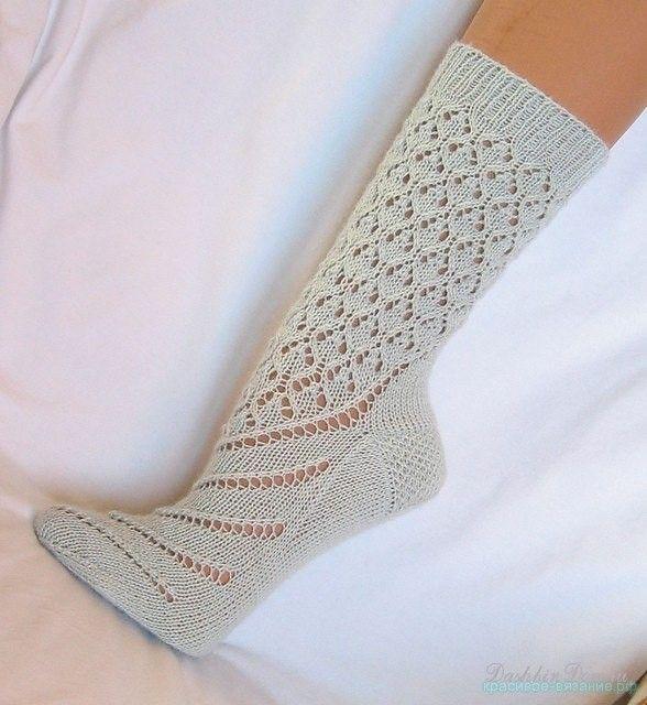 Как связать красивые носки спицами схемы фото