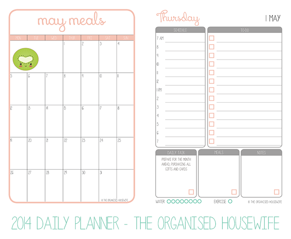 2014 Daily Planner