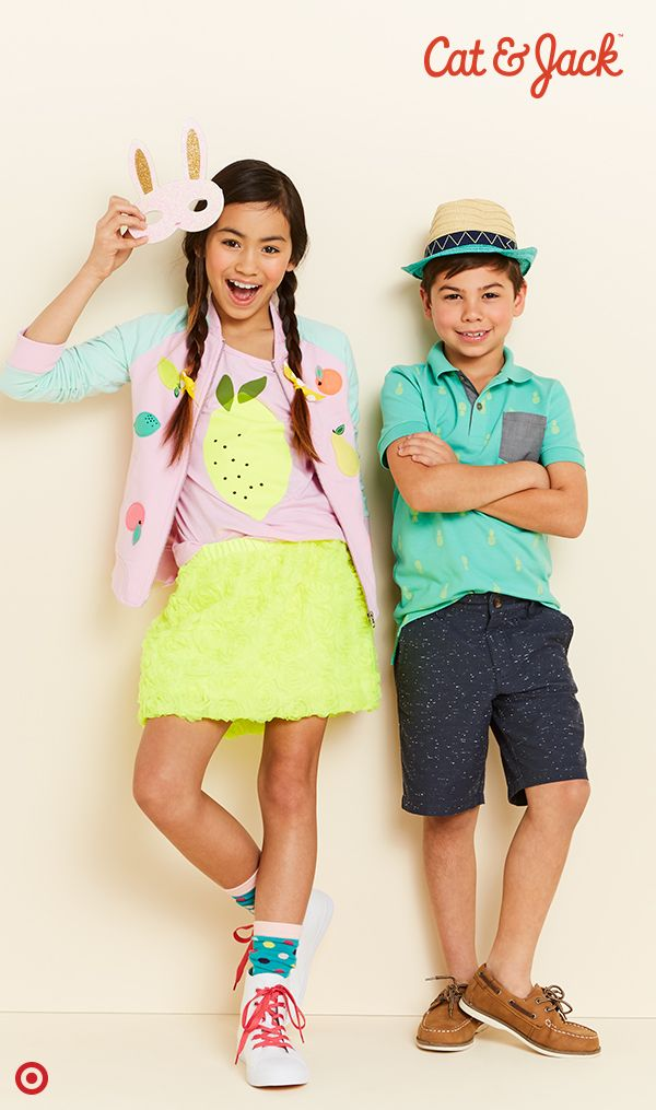 73fab32f43 Casual kids  Easter looks are a breeze with the Cat   Jack clothing line.  This spring
