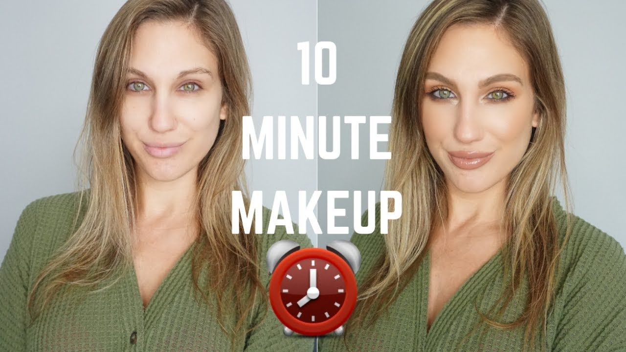 MY 10 MINUTE NO FOUNDATION MAKEUP ROUTINE No foundation