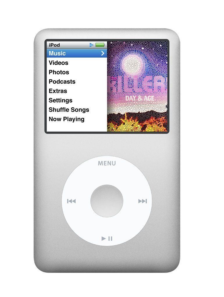 sale 197 apple ipod classic 160 gb silver 7th. Black Bedroom Furniture Sets. Home Design Ideas