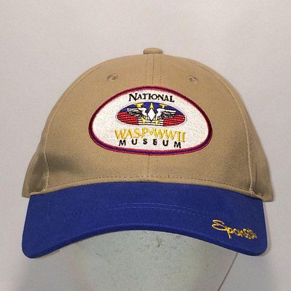 6aece574b59 Vintage Military Strapback Hat Men Cap Women Airforce Service Pilots  National WASP WWII Museum Sponsor Baseball Cap Verteran Hat T113 MA8162