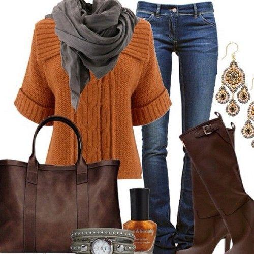 Warm and toasty autumn colors. #fall #fashion