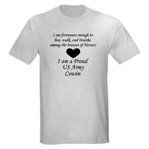 177460fe Army Cousin Shirt #cafepress #armycousin | Army Cousin | Funny ...
