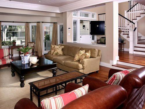 Newport Beach Plantation Style Traditional Living Room Home Interior Decor Ideas