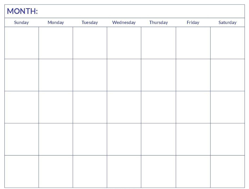 microsoft word blank calendar template