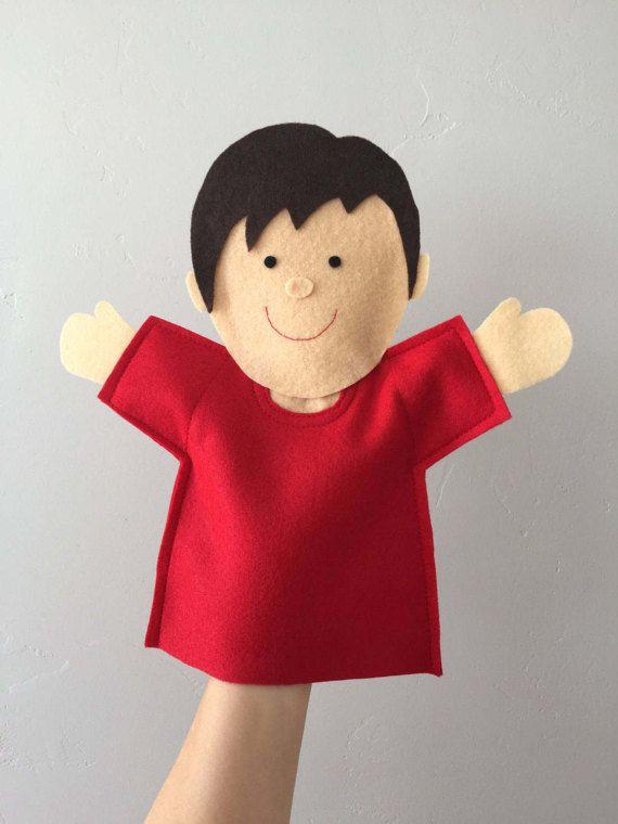 Ready-Made Joy Boy Puppet | Joy School | Hand Puppet | Felt Puppet