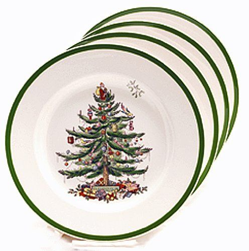 Spode Christmas Tree Bread And Butter Plate Set Of 4 By Spode 32 00 Dishwasher And Microwave Spode Christmas Tree Classic Christmas Tree Christmas Tree Set