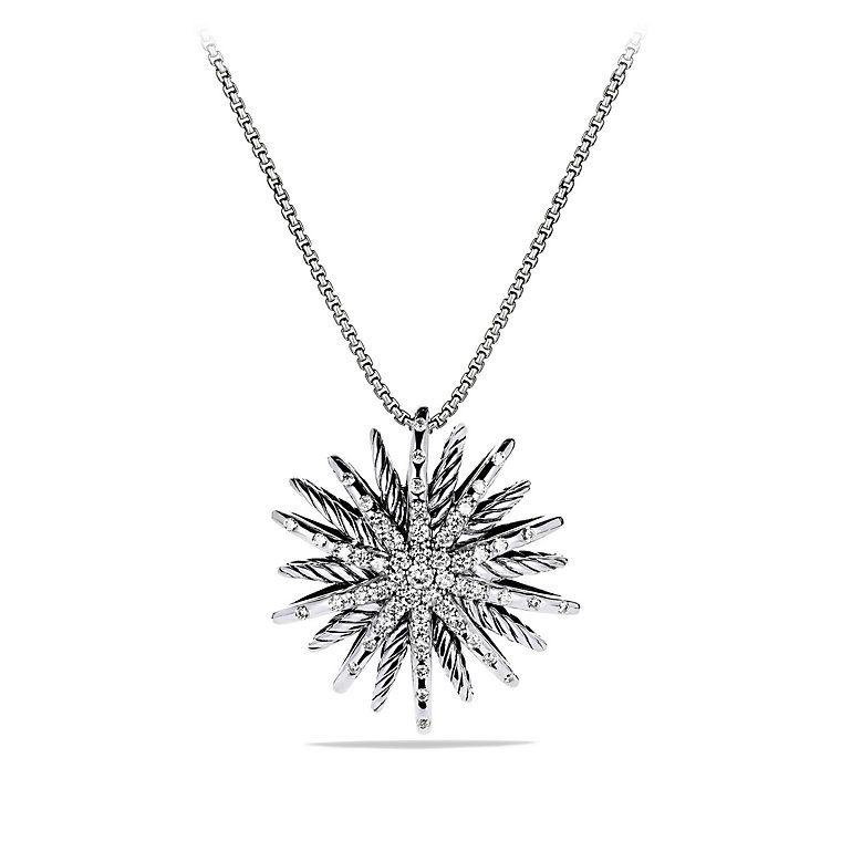 Starburst medium pendant necklace with diamonds accessories starburst medium pendant necklace with diamonds mozeypictures Images
